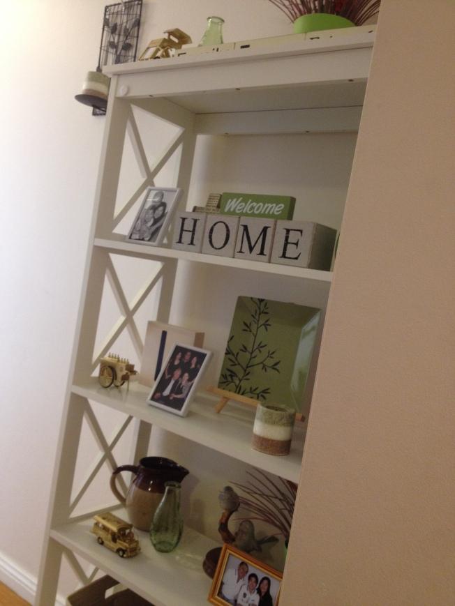 bookshelf side