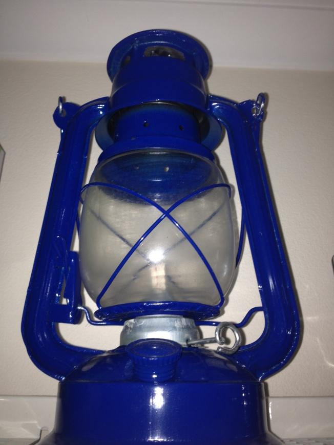oil lamp in laundry